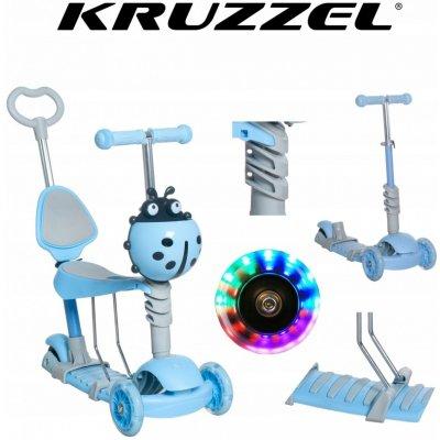 Koloběžka Kruzzel 10331 Hulajnoga modrá 5 v 1